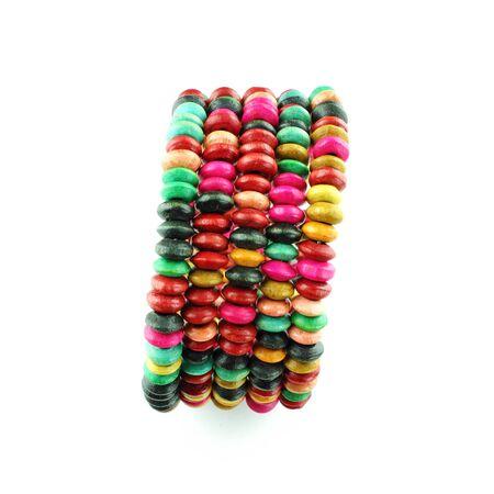 Colorful  bracelet on a white background Stock Photo - 23784295