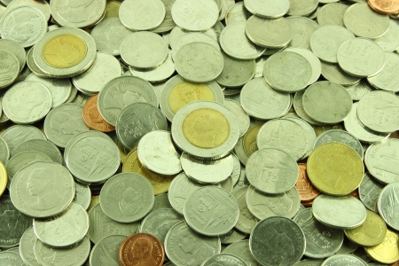 Coins Thai Baht  Stock Photo - 23784321