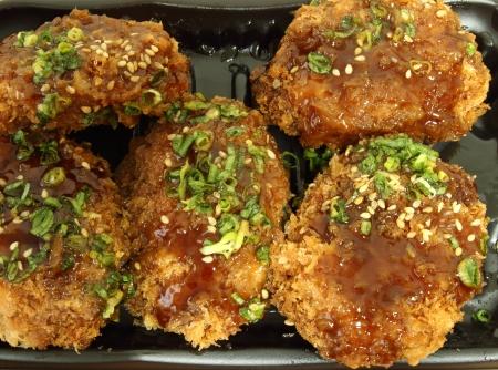 chicken Milanese with Teriyaki sauce photo