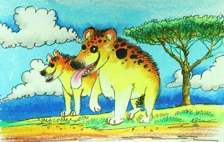 iene: Iene nella pittura selvaggia