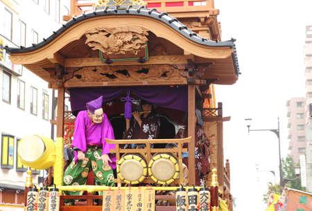 KAWAGOE, SAITAMA,JAPAN -  OCT 19 2013   Unidentified people joint to the parade for kawagoe festival on Oct  19 2013 in Kawagoe, Saitama, Japan  Editorial