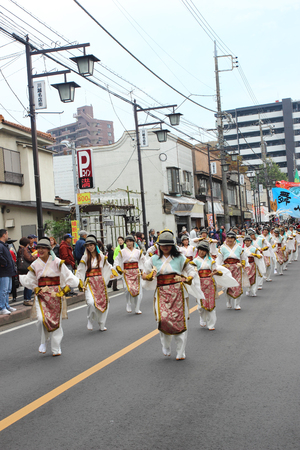 KAWAGOE, SAITAMA,JAPAN -  Nov 10 2013   Unidentified people joint to the parade for  international food  festival
