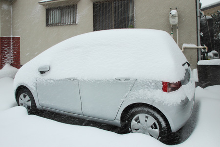 日本 Feb08 東京、2014 年 2 月 8 日日本に日本の他の地域で数十年で大雪 写真素材