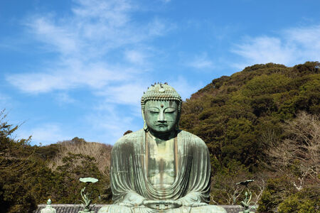 great buddha  Daibutsu  sculpture of Kamakura city  photo