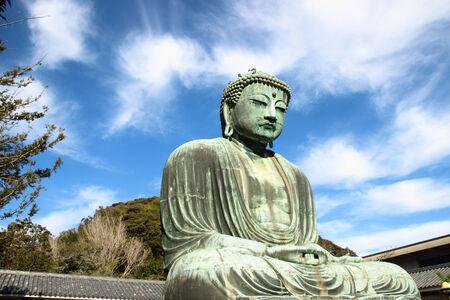 kamakura: great buddha  Daibutsu  sculpture of Kamakura city