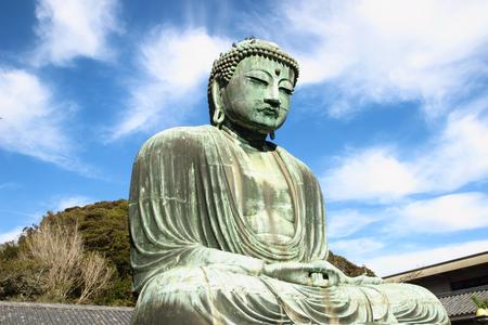 great buddha  Daibutsu  sculpture of Kamakura city
