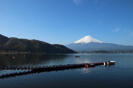 Mt.Fuji at Lake Kawaguchi, Yamanashi, Japan photo