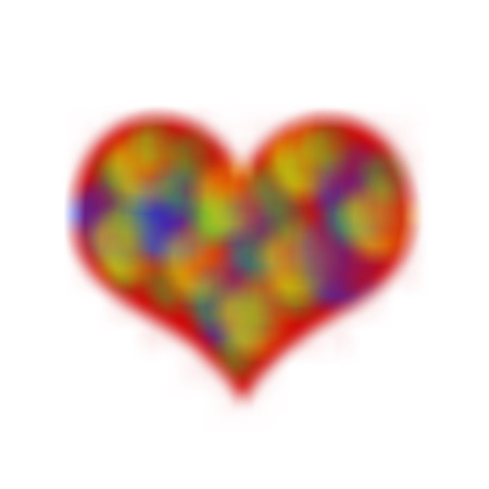 abstract magic  colorful heart bokeh background Stock Photo