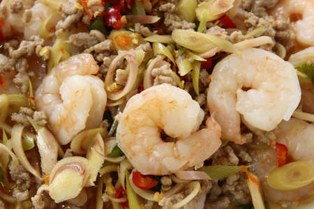 Thai Spicy Lemongrass Shrimp ,Thai food photo