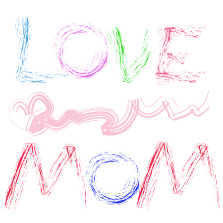 cute greeting card background for Mother photo