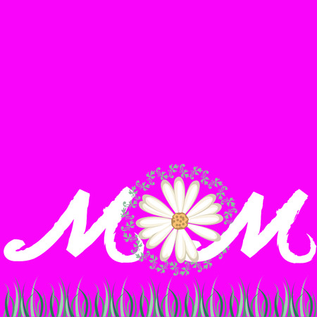 cute greeting card background for Mother