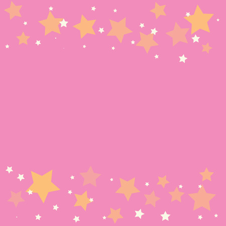 pink background: abstract gold star on a pink background