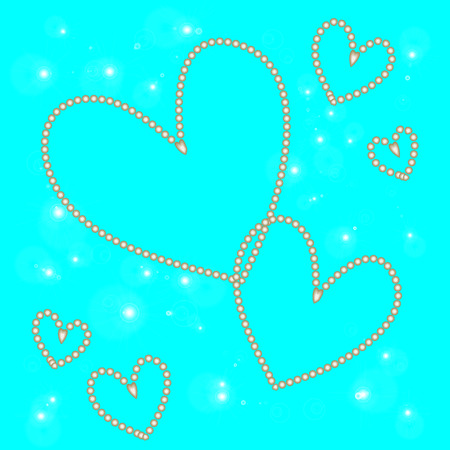 abstract white heart on a blue background Stock Photo