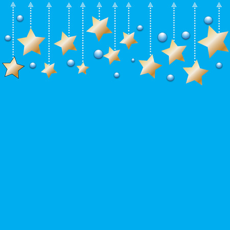 abstract bokeh gold star on a blue background