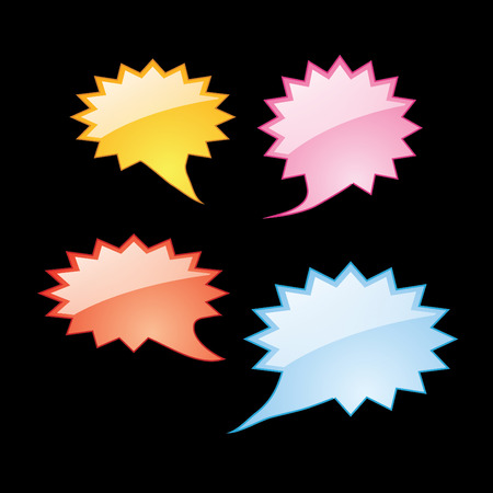 colorful dialog speech bubbles icons photo