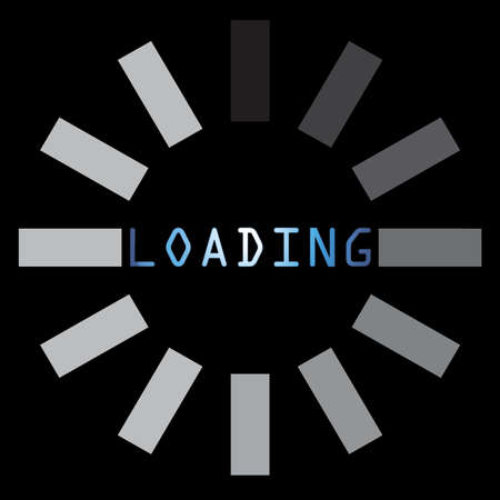 abstract loading symbol on a black background photo