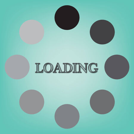 abstract loading symbol on a blue background Stock Photo