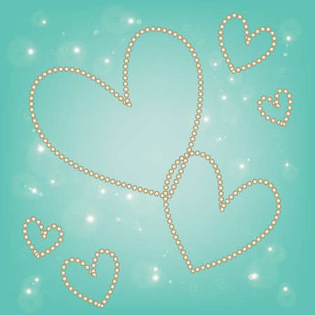 abstract magic white heart on a blue background