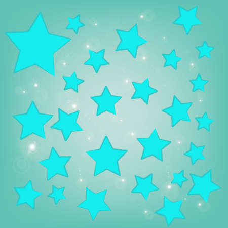 abstract bokeh blue star on a blue background Stock Photo