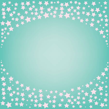 abstract magic pink star with space for text on a blue background