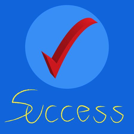 proceed: success text with check mark on a blue background