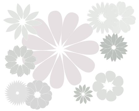 Abstract magic gray flower on a white background Illustration