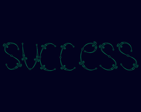 abstract magic success text on a blue black background