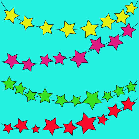 abstract magic bokeh colorful  star on a blue background
