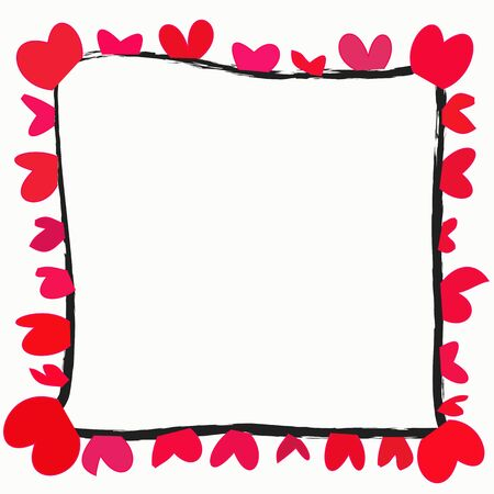 red heart with space for text  on a white background