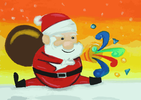 colorful santaclaus painting background , colorful santaclaus painting