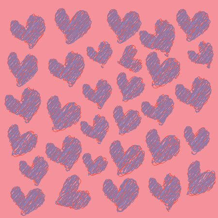 abstract colorful heart on a pink background