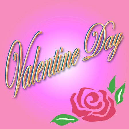 abstract valentine card on a pink background Illustration