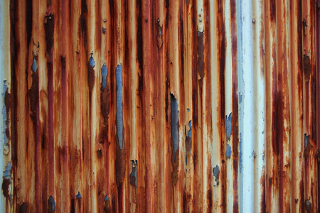 Old rusty damaged of metal wall background