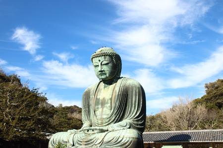 great buddha (Daibutsu) sculpture of Kamakura city at Japan