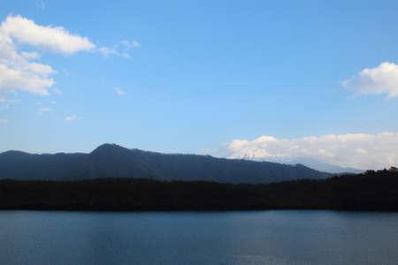 saiko: Lake saiko, Lake saiko with Fuji Mountain background