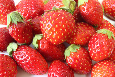 Fresh Japanese Strawberry background , Red strawberry