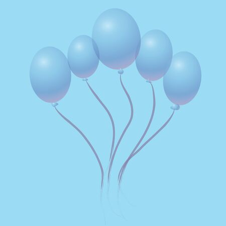 abstract balloons on a blue background