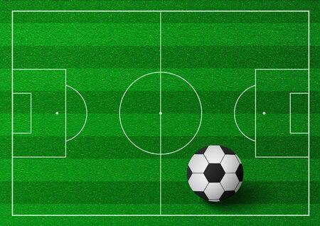 greenfield: Soccer ball illustration Stock Photo