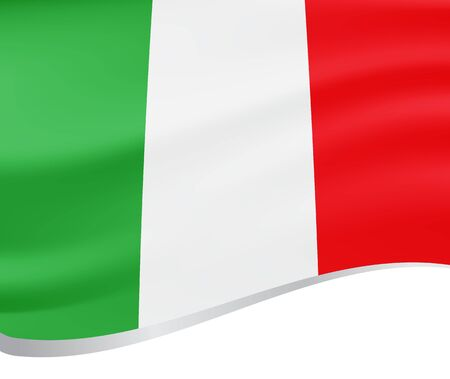 bounds: Waving flag of Italy, background