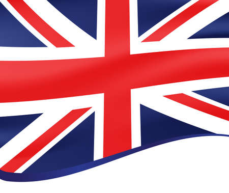 bounds: Waving flag of united kingdom vector