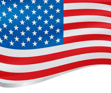 bounds: Waving flag of USA vector