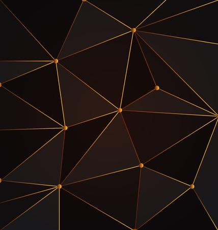 Schwarz und Gold abstrakten Polygon Hintergrund, Gold Triangle Polygon-Muster