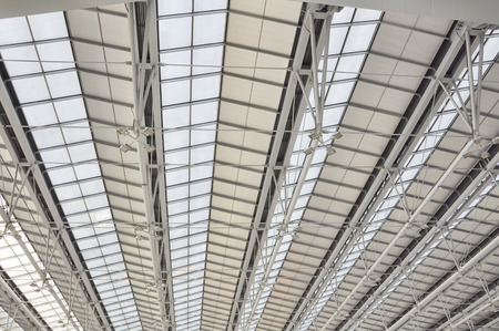 contemporary: Modert roof of contemporary hall Stock Photo