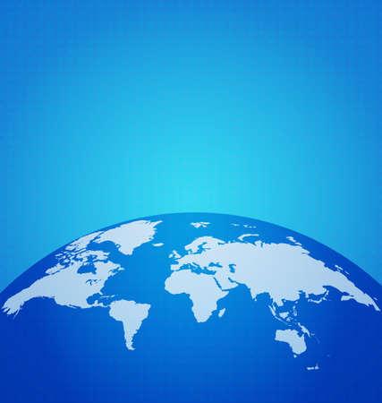 digital world map: Global technology network with dot digital world map, vector illustration Stock Photo