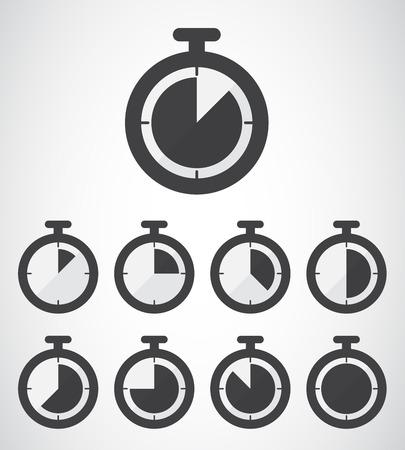 stopwatch icon, vector illustration. Flat design style