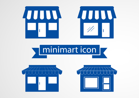 Store flat icon isolate on white background