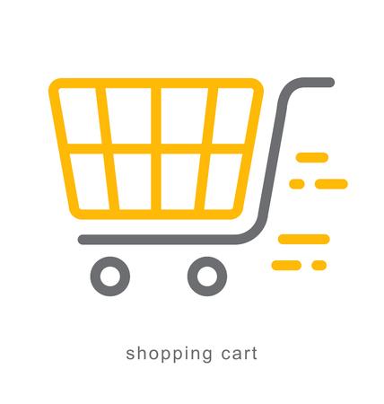 Thin line icons, Linear symbols, shopping cart