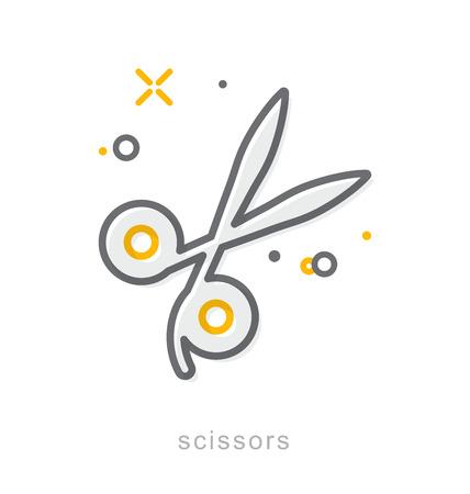 Thin line icons, Linear symbols, Scissors