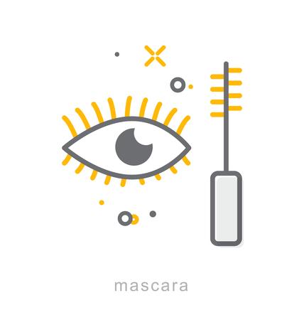 Thin line icons, Linear symbols, Mascara