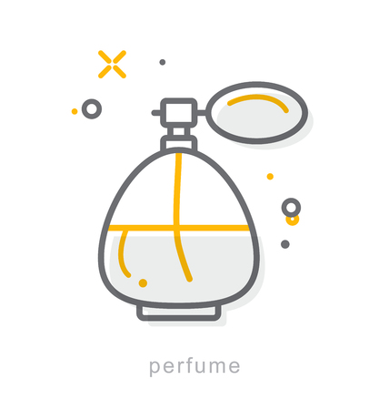 fragrance: Thin line icons, Linear symbols, Perfume Illustration